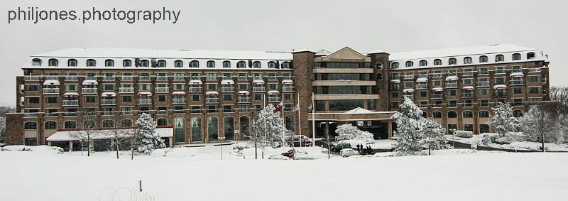 Celtic Manor Snow Panorama